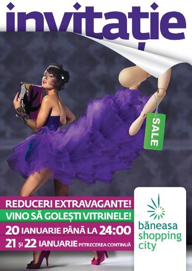 Baneasa Shopping City te invita la extra reducerile extravagante, vino sa golesti vitrinele!